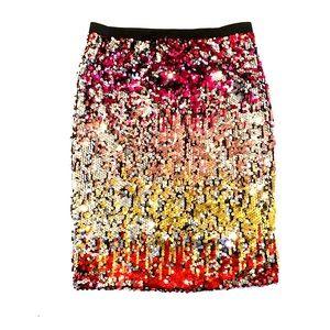 Forever 21 rainbow sequin skirt medium
